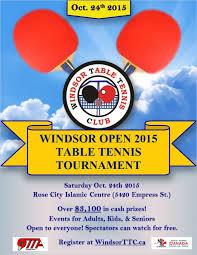 Table Tennis Tournament by Tournaments U2013 Windsor Table Tennis Club