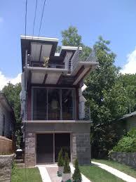 contemporary shotgun house with minimalist storey design ideas
