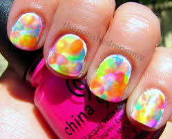 neon watercolor nails the polished mommy