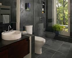 Natural Stone Bathroom Ideas Gray Natural Stone Bathroom Wall Tile Glass Shower Cabin Partition