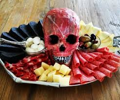 flayed human skull antipasto platter chicago police officer