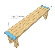 Building Plans For Picnic Table Bench by Easy To Build Farmhouse Bench Free And Easy Diy Project And