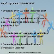 Polyfragmented Dissociative Identity Disorder Trauma and Dissociation   WordPress com