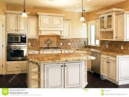 Antiqued Kitchen Cabinets Antique White Distressed Kitchen Cabinets Exitallergy Com