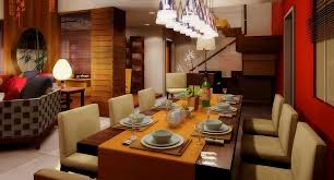 dining room ceiling recessed lamp and double pendant lamp for