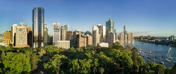 Brisbane City Botanic Gardens by Drone Panorama Photography High Resolution High Detail Ideal