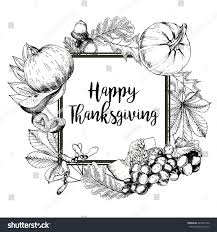 greeting for thanksgiving vector square border greeting card thanksgiving stock vector