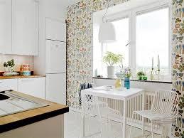 Wallpaper For Backsplash In Kitchen Light Gray Aesthetic Kitchen Wallpaper Pastel Green Chairs