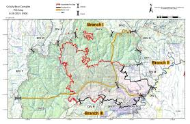 Time Change Map Grizzly Bear Complex Fire Footprint About To Change With