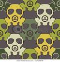 Gas Mask - Seamless Pattern - Vector Clipart Illustration picturesof.net
