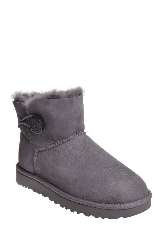 UGG Australia Mini Bailey Button ll Grey Boots 1016422-GREY