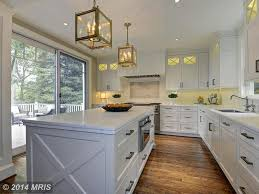 traditional kitchen with french doors u0026 pendant light in severna