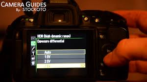 how to set hdr mode on a nikon d5100 d5200 d5300 youtube
