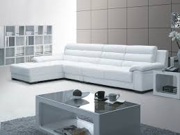 Sleeper Sofa Chaise Lounge by White Leather Sleeper Sofa With Chaise Lounge And Armrest On