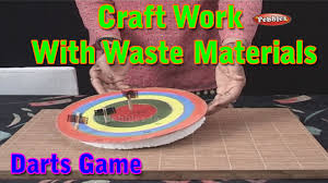 darts game craft work with waste materials learn craft for