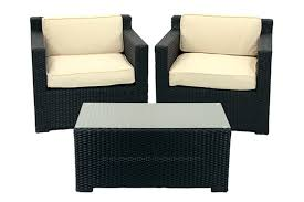 Wicker Resin Patio Furniture - 3 piece black resin wicker outdoor patio furniture set beige