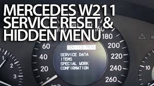 how to reset service reminder in mercedes benz w211 emissions