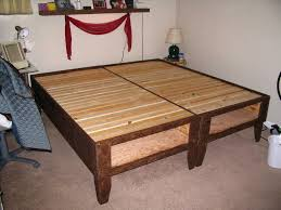 King Size Floating Platform Bed Plans by Bed Frame Building A Beautiful Queen Size Building 2x4 Bed Frame