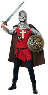 Undead Halloween Costumes Undead Medieval Skull Knight Zombie Crusader Warrior Armor