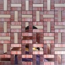 Aluminum Kitchen Backsplash Peel And Stick Tile Red Aluminum Metal Wall Tile Adhsive Mosaic