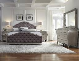 Grey Tufted Bedroom Set  Grey King Skyline Furniture Tufted Bed - White tufted leather bedroom set