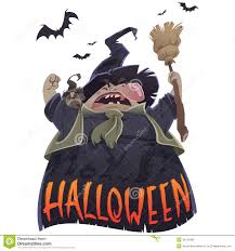 halloween scary cartoon witch royalty free stock photo image