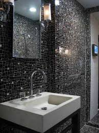 beautiful and simple design mosaic tiles for artistic home home beautiful and simple designs mosaic tiles with dramatic black design floating sink as well lighting on