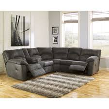 Ashley Furniture Sectionals Signature Design By Ashley Tambo Pewter Left And Right Reclining