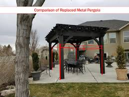 Custom Gazebo Kits by Aluminum Metal Timber Frame Vinyl Or Wood Pergola Kit Western