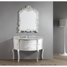 Virtu USA Abigail  White Bathroom Vanity White Finish Solid - 48 bathroom vanity antique white