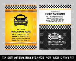 Business Card Eps Template Business Card Template For Taxi Service Vector Image 17170