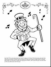 excellent cute st patrick leprechaun coloring pages with