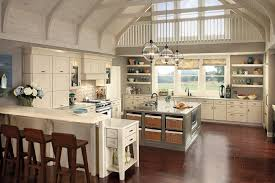 Glass Shelves Kitchen Cabinets Enchanting Modern Kitchen With Floating White Cabinet Beside Glass