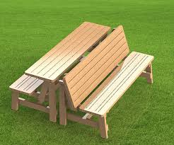 Building Plans For Picnic Table Bench by Convertible 6ft Bench To Picnic Table Combination Building
