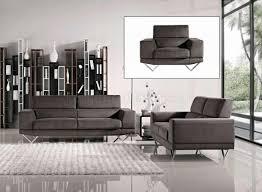 Grey Sofa And Loveseat Set Grey Fabric Modern 3pc Sofa Loveseat U0026 Chair Set W Metal Legs