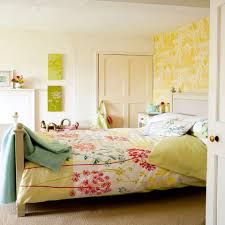 adorable and cute bedroom ideas with pink bedsheet also artsy wall summer interior design idea of cute bedroom ideas feat floral sheet and vibrant walls