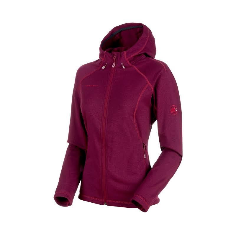 Mammut Runbold Hooded Midlayer Fleece Jacket Beet Melange XS 1010-23200-3494-112