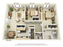Single Bedroom Apartment Floor Plans by Floor Plans Pricing