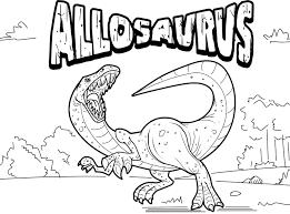 allosaurus coloring page dinosaur pinterest activities