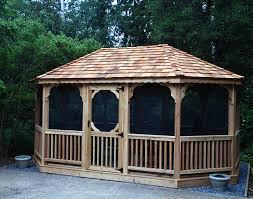 Lowes Gazebos Patio Furniture - red cedar single roof 8 sided oval gazebos gazebos by style