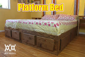 Plans For Wooden Platform Bed by Platform Bed With Drawers Woodworking For Mere Mortals