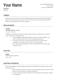 Aaaaeroincus Pleasing Free Resume Templates Primer With Great Free