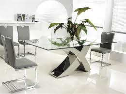 chrome clear glass dining table by casabianca home geneva sku alternative views