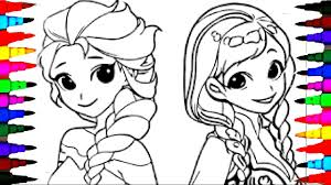 coloring pages disney frozen cartoon elsa and anna coloring book