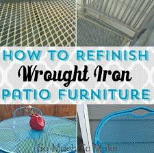 Outdoor Furniture Finish by How To Refinish Wrought Iron Patio Furniture So Much To Make