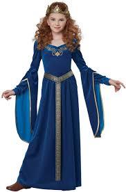 blue halloween costume sapphire medieval princess child costume purecostumes com