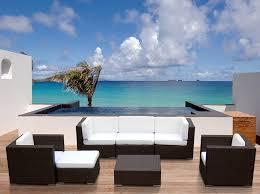 Resin Wicker Patio Furniture Sets - amazon com outdoor patio sofa sectional wicker furniture 7pc