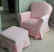 custom nursery glider chair and ottoman slipcover set