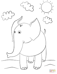 cartoon elephant coloring pages coloring books 4823