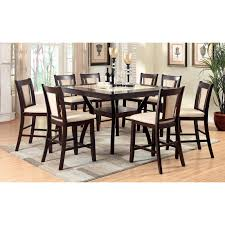 Round Dining Table Sets For 6 Furniture Of America Mullican 7 Piece Display Top Dining Table Set